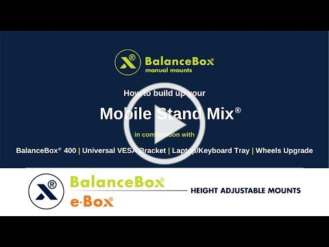 Mobile Stand Mix® + BalanceBox® 400 + Universal VESA Bracket + Laptop Keyboard Tray + Wheels Upgrade