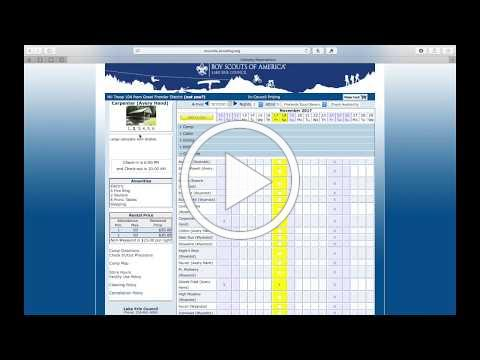Weekend Camping Reservation Tutorial - Lake Erie Council, BSA
