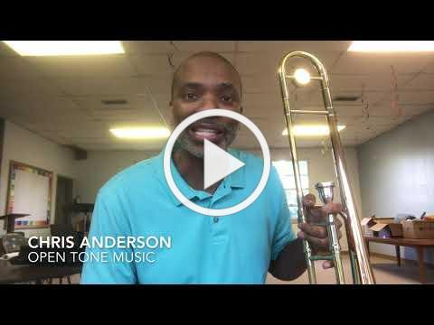 Chris Anderson of Open Tone Music thanks Wenk Foundation
