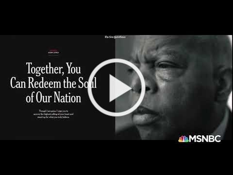 Morgan Freeman reads Rep. John Lewis' last words: Together, You Can Redeem the Soul of Our Nation