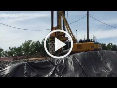 Drilled shaft on I-64/I-264 Interchange Improvements Project