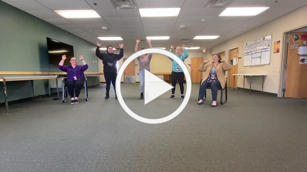 Fun ProAct staff activity for participants - theater warmup