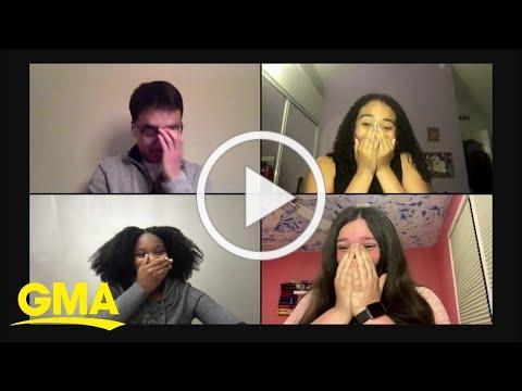 'GMA' surprises 25 high school seniors with college scholarships l GMA