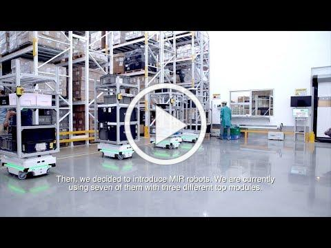 Fleet of 7 MiR robots link production to warehouse 24/7 at Visteon in Mexico