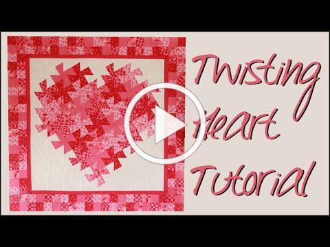 Twisting Pinwheel Heart Wall Hanging!! - Quilting Tutorial