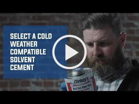 Solvent Cementing PVC Pipe in Cold Weather