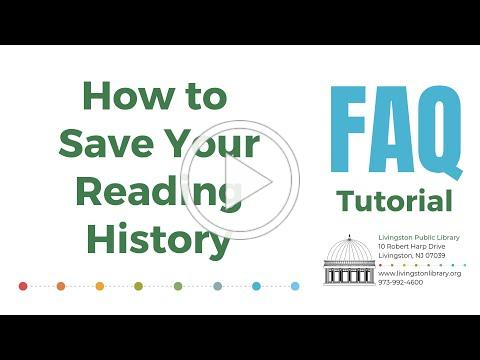 FAQ - AM8 How to Save Your Reading History