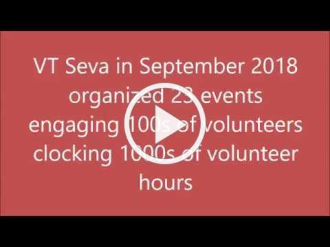 VT Seva Activities in September 2018