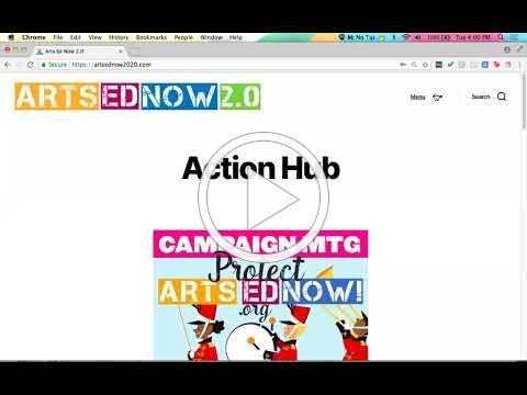 ArtsEdNow: Action Hub Profile Update Walkthrough