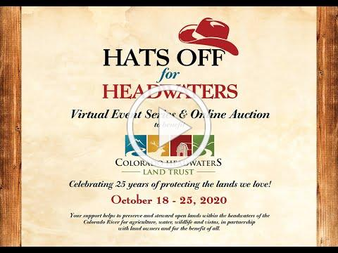 Hats Off for Headwaters 2020: Landowners Panel