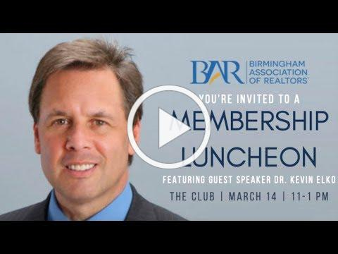 Registration for the March Luncheon Open