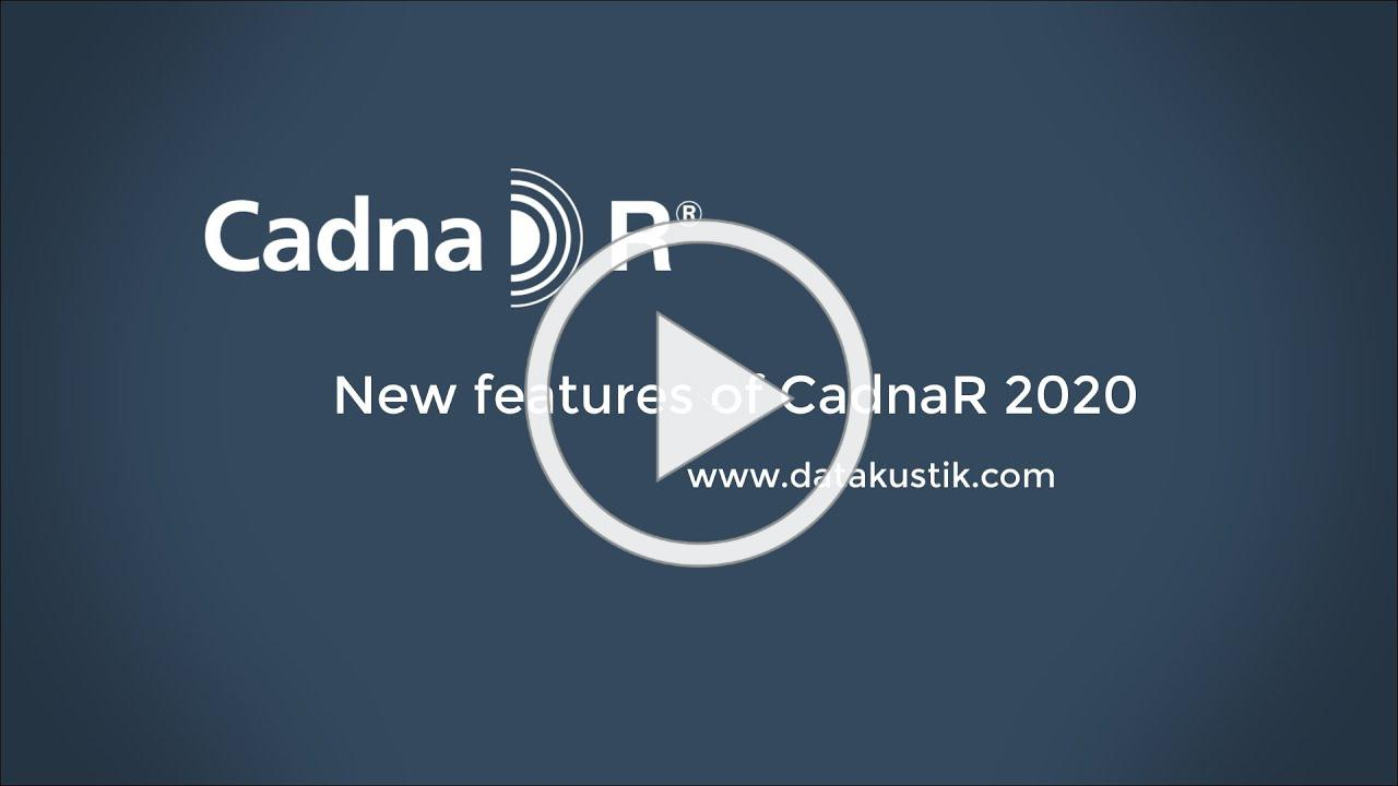 What´s new in CadnaR 2020?