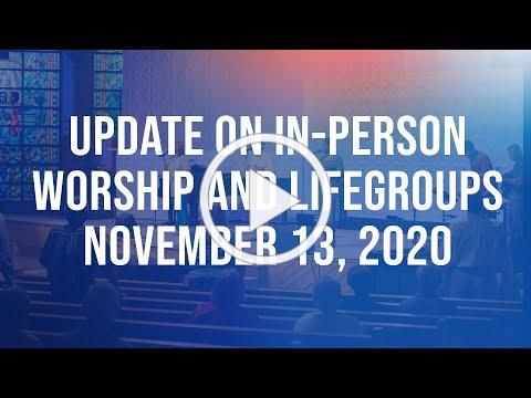 Worship Status update November 13, 2020
