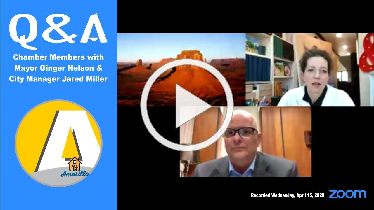 Amarillo Chamber Members' Zoom Q&A with Mayor Nelson 4 15 2020