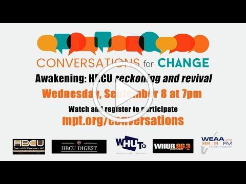 Promo: Conversations for Change - HBCU Week 2021