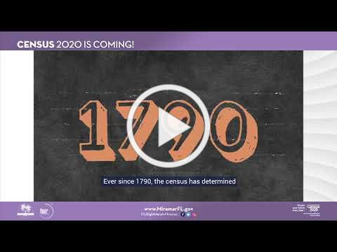 CENSUS 2020 - Commissioner Yvette Colbourne of the City of Miramar - What is the US Census?