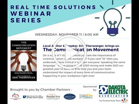 Real Time Solutions Webinar Series: The Communication Movement