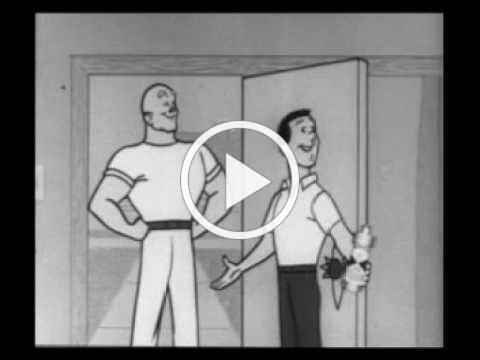 MAN ABOUT THE HOUSE 1950-60's Mr. Clean 60 second Promo