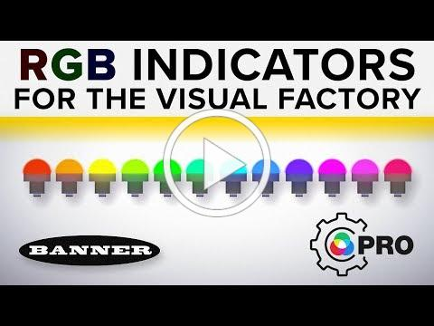 Programmable RGB Indicators for the Visual Factory