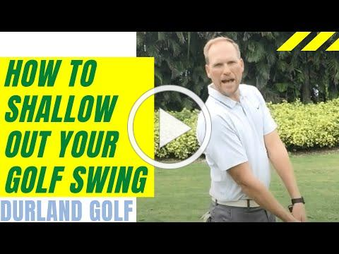 GOLF TIP | How To Shallow Out Your Golf Swing