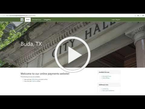City of Buda E Billing