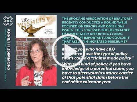 E&O Claims Based Policy