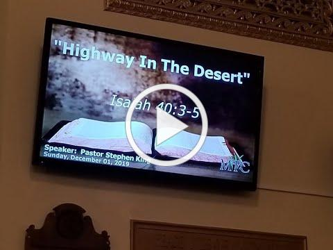 "Sermon: ""Highway in the Desert"" (Isaiah 40:3-5)"