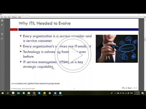 ITIL 4 Webinar - Introduction to ITIL 4.