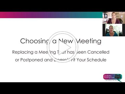 Tricks of the Trade - Attendees: Choosing a New Meeting if Yours is Cancelled