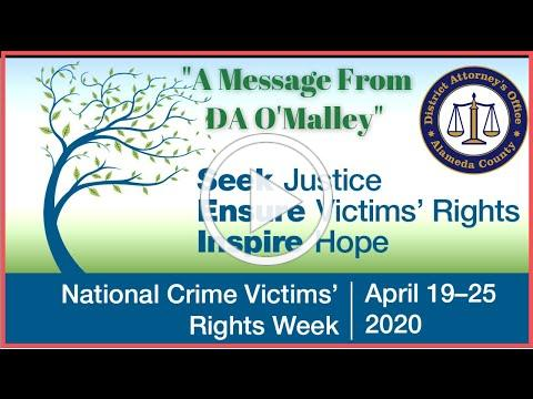 Victims' Rights Week | A Message From DA Nancy O'Malley