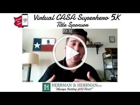 2021 Virtual CASA Superhero 5K Title Sponsor Herrman & Herrman, PLLC