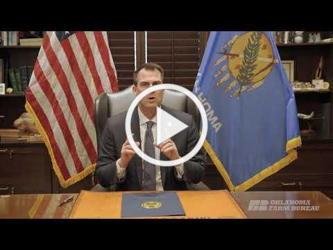 "Gov. Stitt declares Feb. 15-19 ""Farm Bureau Week"" in Oklahoma"