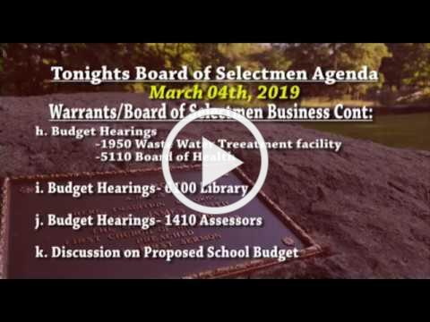 2019-03-06 WB Board of Selectmen