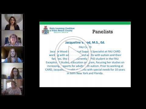"ELCPBC Parent Panel with FAU CARD ""Challenges & Victories Raising Children With Autism"" - 4/29/2020"
