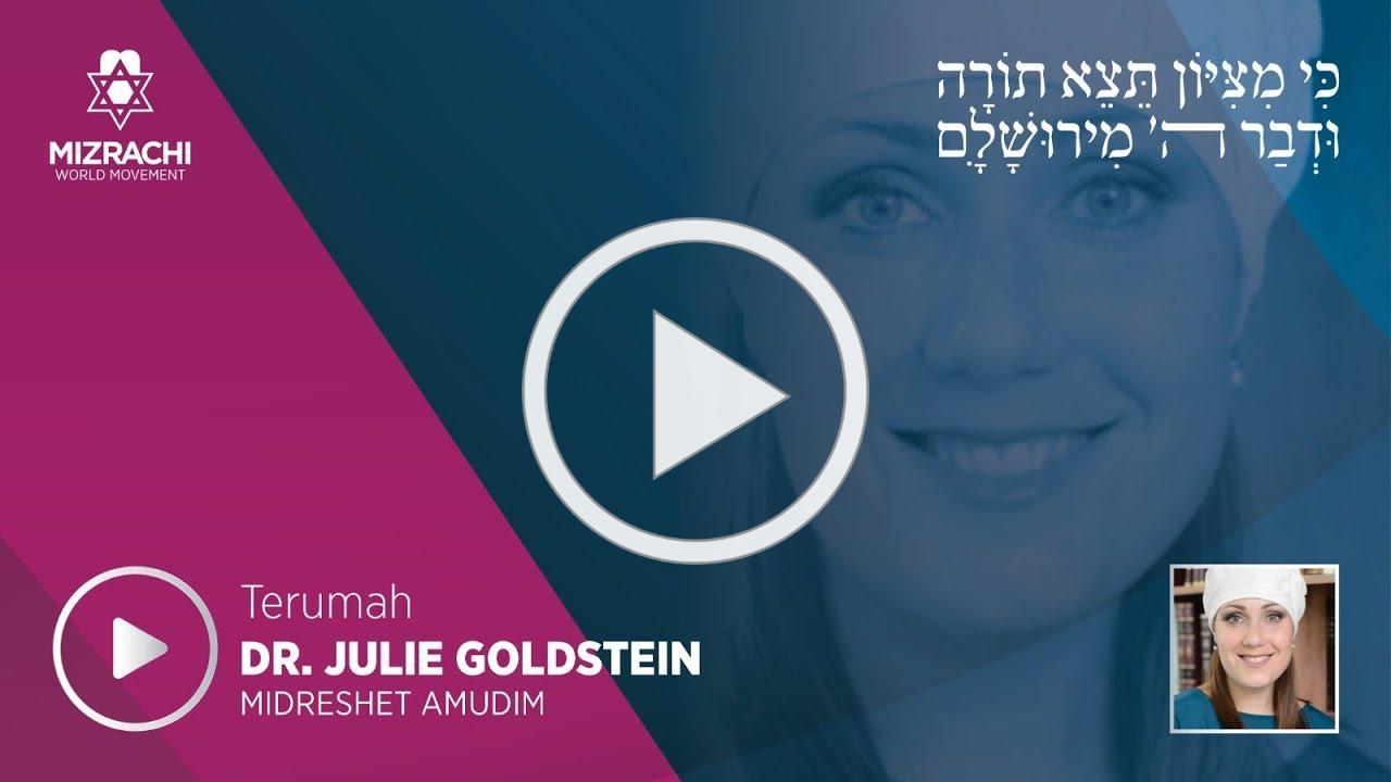 Dr. Julie Goldstein   Terumah 5780
