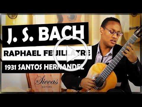 Raphaël Feuillâtre plays BACH - BWV 826 Partita No. 2 on a 1931 Santos Hernandez