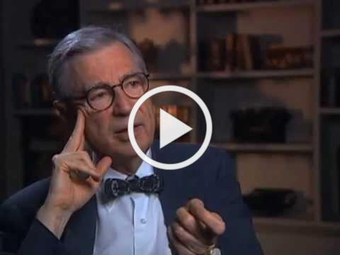 Fred Rogers discusses the importance of music in his work - EMMYTVLEGENDS.ORG