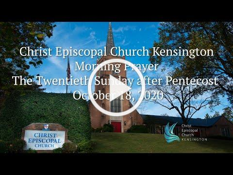 Christ Church Morning Prayer October 18, 2020