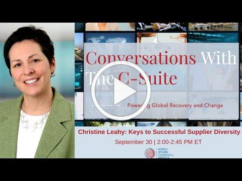 2020 Conversations With The C-Suite | Keys to Successful Supplier Diversity