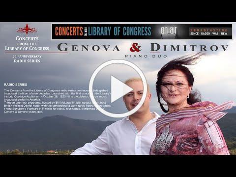 Arensky Suite No.1 * Genova & Dimitrov * Library of Congress Founder's Day Recital