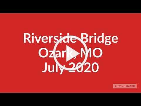 Riverside Bridge, Ozark MO Drone Footage