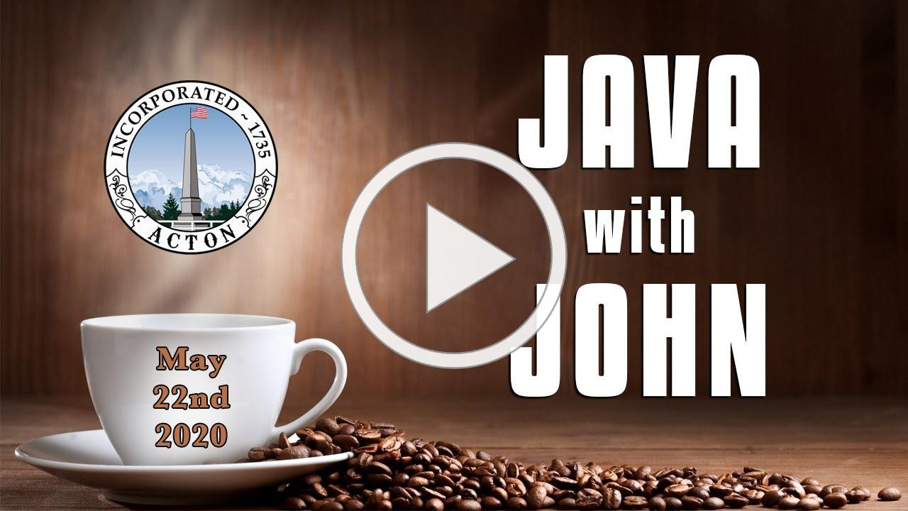 Java with John - May 22nd, 2020