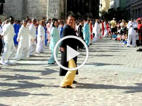 Celebration of Tai Chi day in Cuba