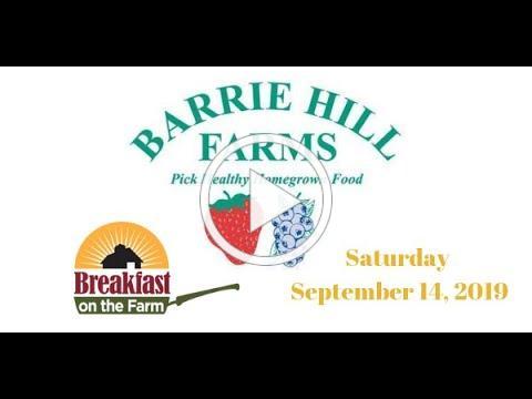 Breakfast on the Farm ~ Saturday September 14, 2019