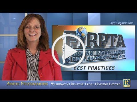 FIRPTA - Best Practices