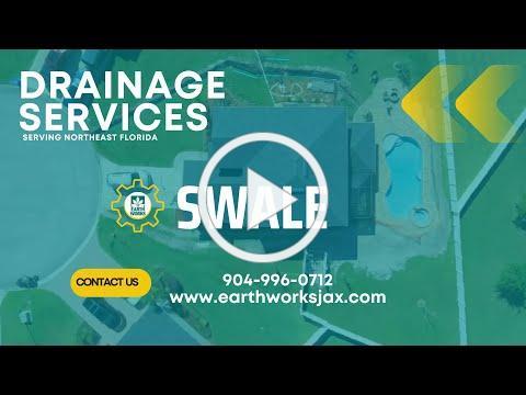 Landscape Design with Drainage Swale