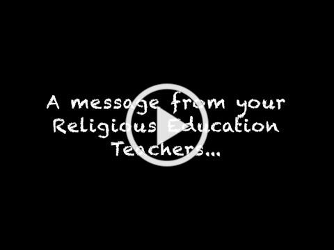 A message to religious education students