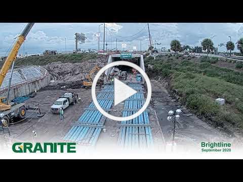 Granite Construction Box-jacking 4K Time-lapse