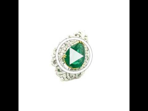 MDJ Advantage - Estate Emerald and Diamond Ring - Item # tn018964 - Dominic Mainella