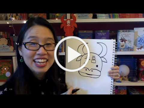 Grace Lin shows how to draw an Ox for Lunar New Year